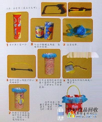 废物利用:薯片筒变储物盒