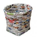 废物利用:用废报纸做的工艺品